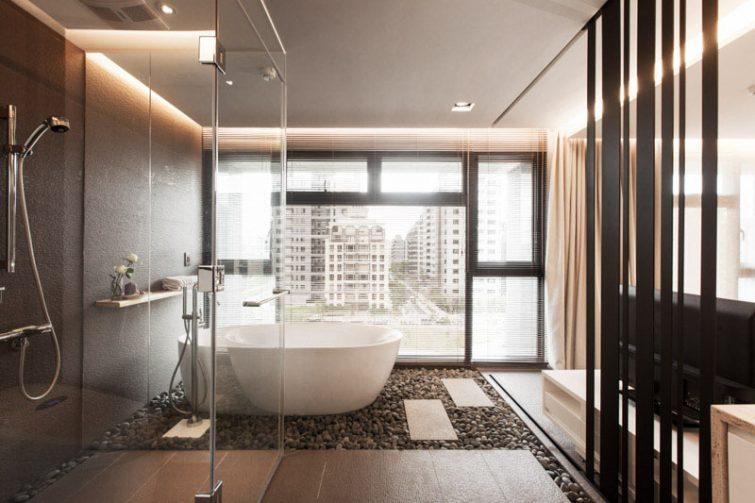 Originele ideeën voor de badkamervloer moveria