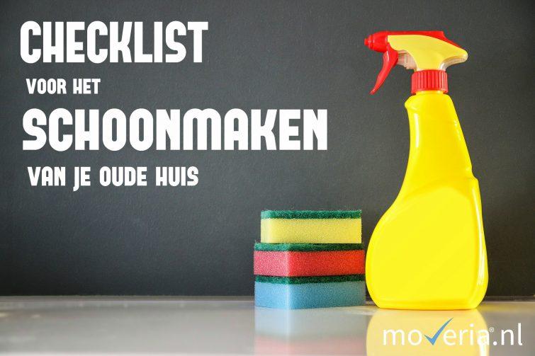 checklist schoonmaken