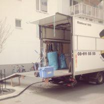 verhuiswagen inladen