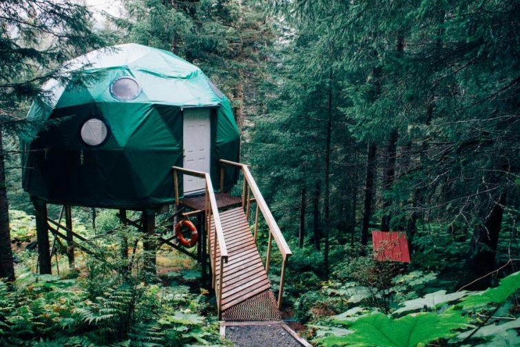 Tijdelijke woonruimte op een vakantiepark
